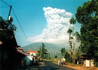 Eruption of Mount Papandayan